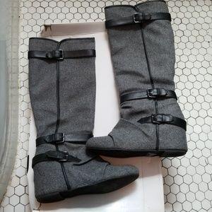 Aldo Elzinga Gray Wedge Boots 8